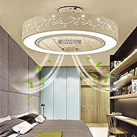 Plafondventilator met verlichting, led-plafondlamp, modern licht, instelbare windsnelheid, stille afstandsbediening…