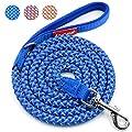 Fairwin Reflective Dog Leash, 6 Foot Heavy Duty Rope Reflective Braided Dog Leash for Large Medium Small Dogs Training(6 foot)