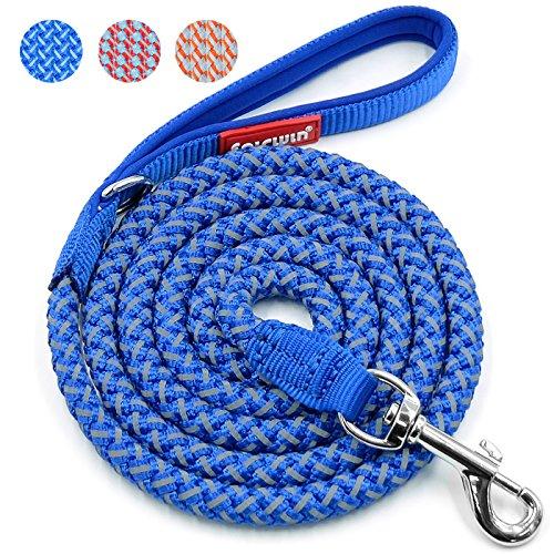 Fairwin Reflective Dog Leash, 6 Foot Reflective Heavy Duty Braided Dog Leash for Large Medium Small Dogs Training