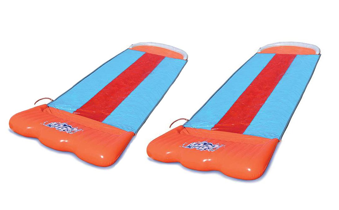 Bestway Two Pack H2O Go Triple Slider Kids Outdoor 3-Person Water Slides by Bestway