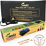 "LATEST EDITION Seed Starter Heat Mat w/ FREE GIFT - Waterproof Seedling Heat Mat for Your Home Garden, 48""x20.75"""