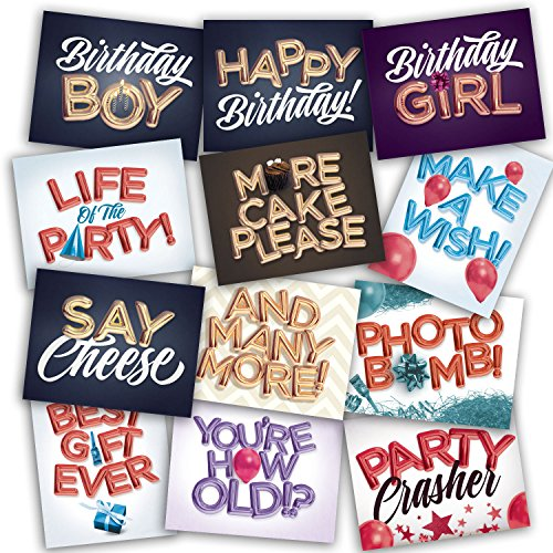 Birthday Party Photo Booth Props - Jumbo