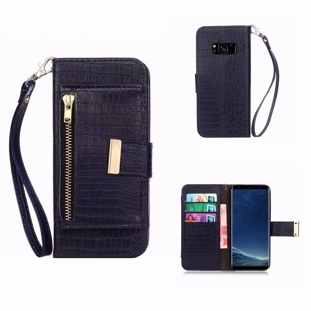 Galaxy S8 Plus Hülle Leder, MingKun PU Brieftasche Ledertasche für Samsung Galaxy S8 Plus Handyhülle Anti-Kratzer Stoßdämpfende Wallet Flip Case Cover mit Ständer - Eule Owl