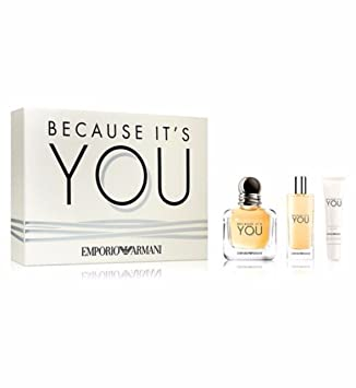 Emporio Armani Because Its You Gift Set 50ml Eau De Parfum 15ml Edp