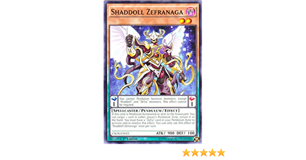 Shaddoll Zefracore CROS-EN023 Common Yu-Gi-Oh Card U New