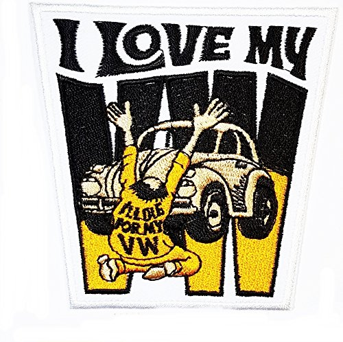 I LOVE MY VW patch Funny Embroidered Motorcycle MC Club B...
