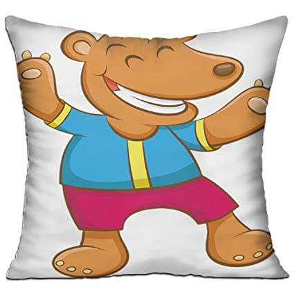 Amazon Com Character Comic Hippo Cozy Sofa Pillow 18in X 18in