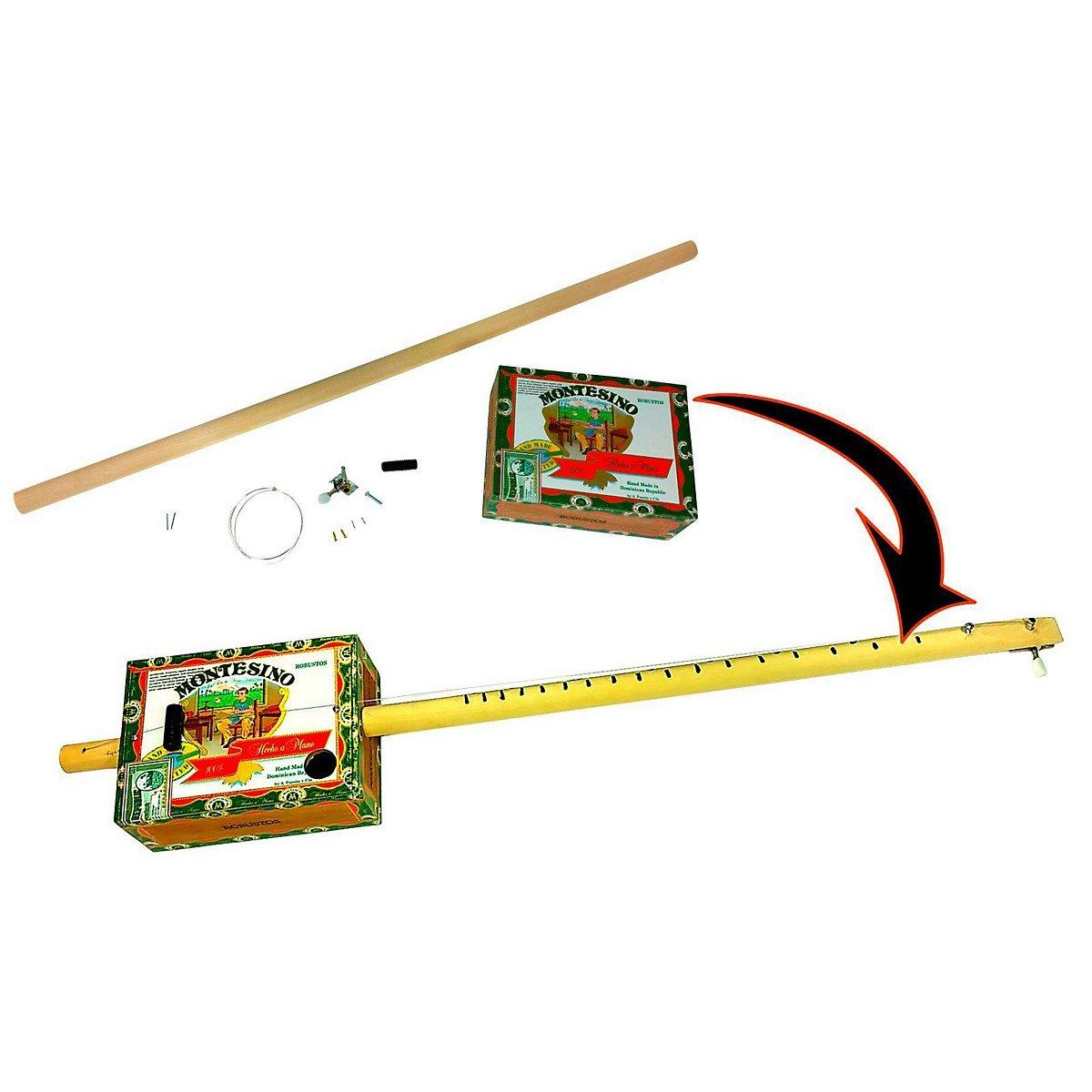 one-string Zigarre Box Gitarre diddleybow, leicht aufzubauen, alle Teile, Hardware und Anleitung im Lieferumfang enthalten C. B. Gitty Crafter Supply 36-008-01