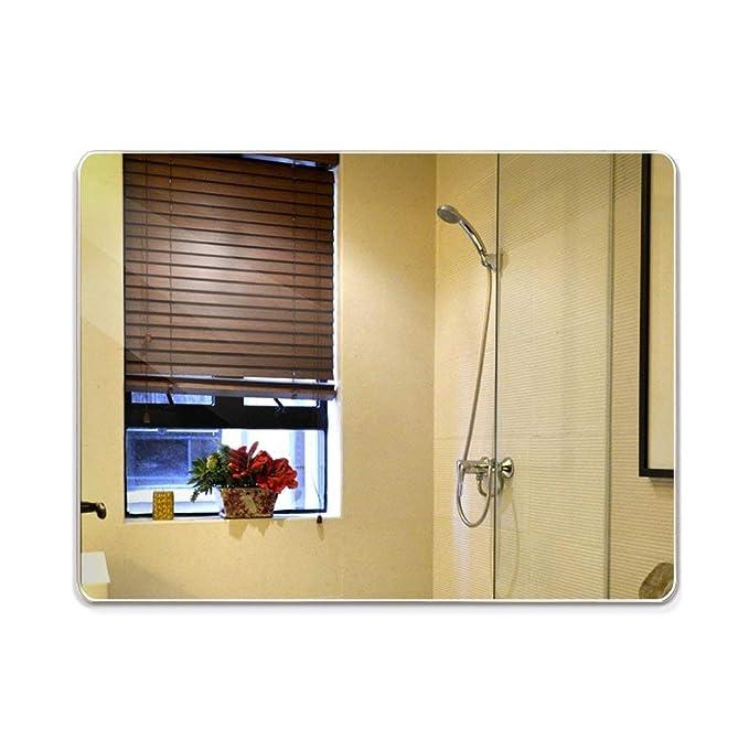 A-IF Espejo De Pared Lavabo Suspendido Baño De Pared Espejo De Lavabo Sin Marco con Cristal Cortado, 60 * 80Cm: Amazon.es: Hogar