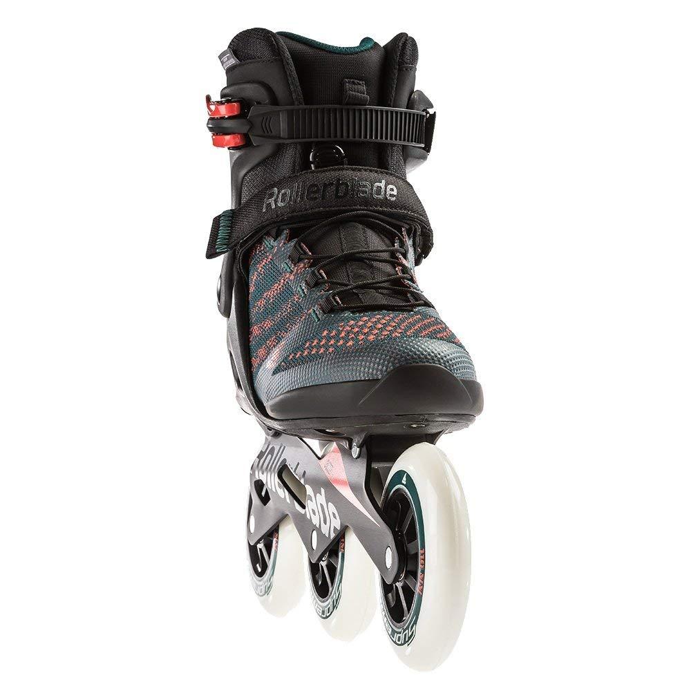 Rollerblade Macroblade 110 3Wd Men's Adult Fitness Inline Skate, Teal Green/Orange Burst, Medium 9.5