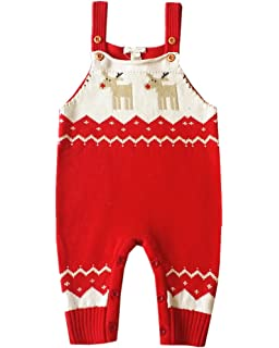 65fca1c24 Amazon.com  ZOEREA Unisex Newborn Baby Overall Long Sleeve Christmas ...