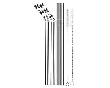 ACE SELECT - Pajitas de acero inoxidable (8 unidades ...