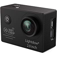 Lightdow LD6000 WiFi 1080P HD Sports Action Camera Bundle with DSP:Novatek NT96655 Chip, 2.0-Inch LTPS LCD, 170° Wide Angle Lens