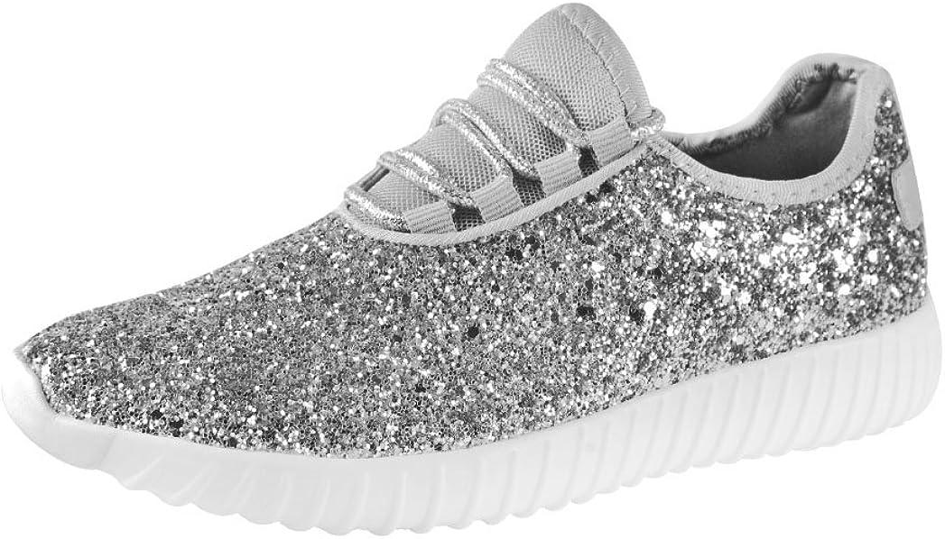 LUCKY STEP Lace up Rock Glitter Fashion