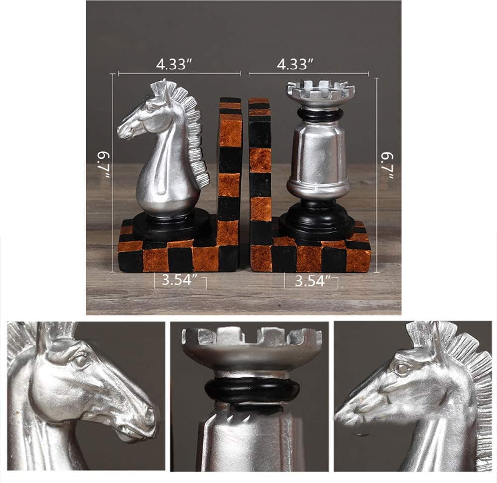 Resin Bookends Chess Book by Bookend Creative Study Home Decoration Ornaments Best Gift