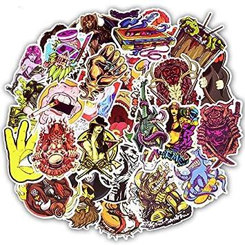 50 Stücke Horror Serie Aufkleber Rock Punk Graffiti Sexy Wasserdichte Aufkleber Für Diy Gitarre Helm Gepäck Laptop Skateboard Aufkleber Kühlschrankmagnete Ornamente