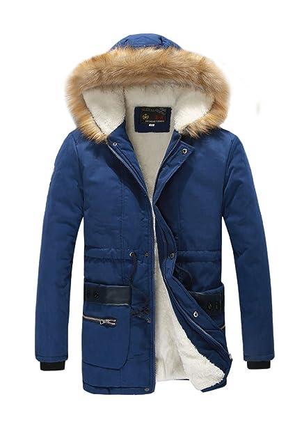 MILEEO-Chaqueta polar para hombre capucha Chaqueta de ...