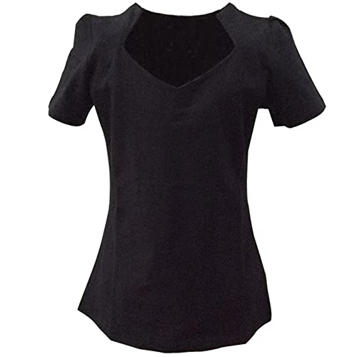 Candow Look mujer black sweetheart heart vintage slim tops