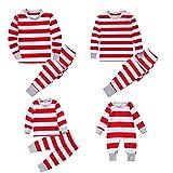 Family Christmas Stripe Pyjamas Cotton Pajamas