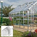 Palram Snap & Grow 8' Series Hobby Greenhouse Extension Kit - 8 x 4 x 9 Silver