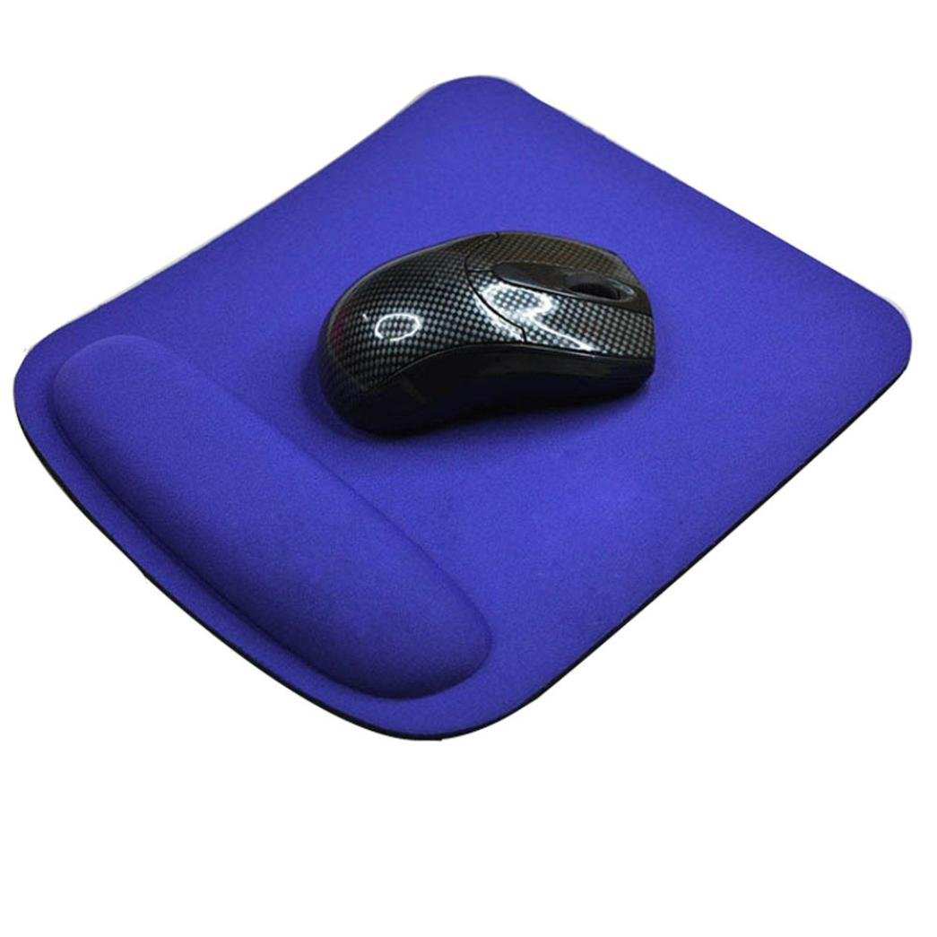Coohole Gel Wrist Rest Support Game Mouse Mat Anti-slip Pad for Computer PC Laptop (Blue 1, A)