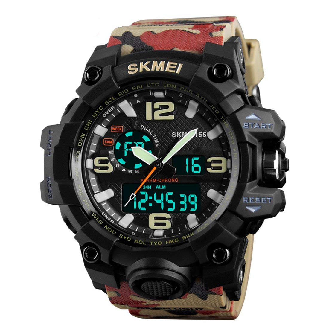 SKMEI Sports Analog-Digital Multi-Colour Dial Men's Watch - SkmeiMW52 product image