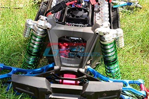 G.P.M - 1Pr Red Traxxas X-Maxx 4X4 Aluminum Front//Rear Adjustable Spring Shocks for X-Maxx 6S // 8S