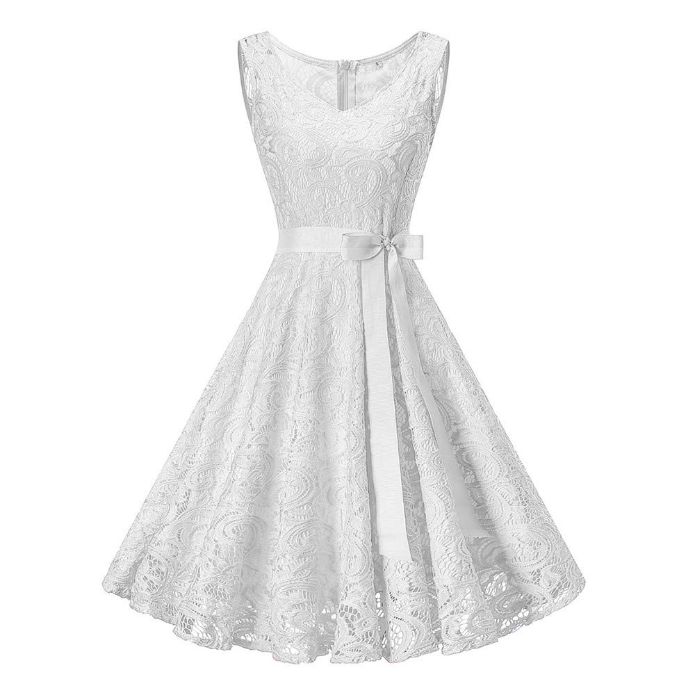 Big Promotion Caopixx Ladies Vintage Cocktail Evening Party Dresses Lace Homecoming Prom Dress for Women Casual