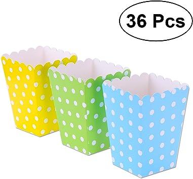 NUOLUX 36pcs popcorn boxes cajas de palomitas de maíz envases ...