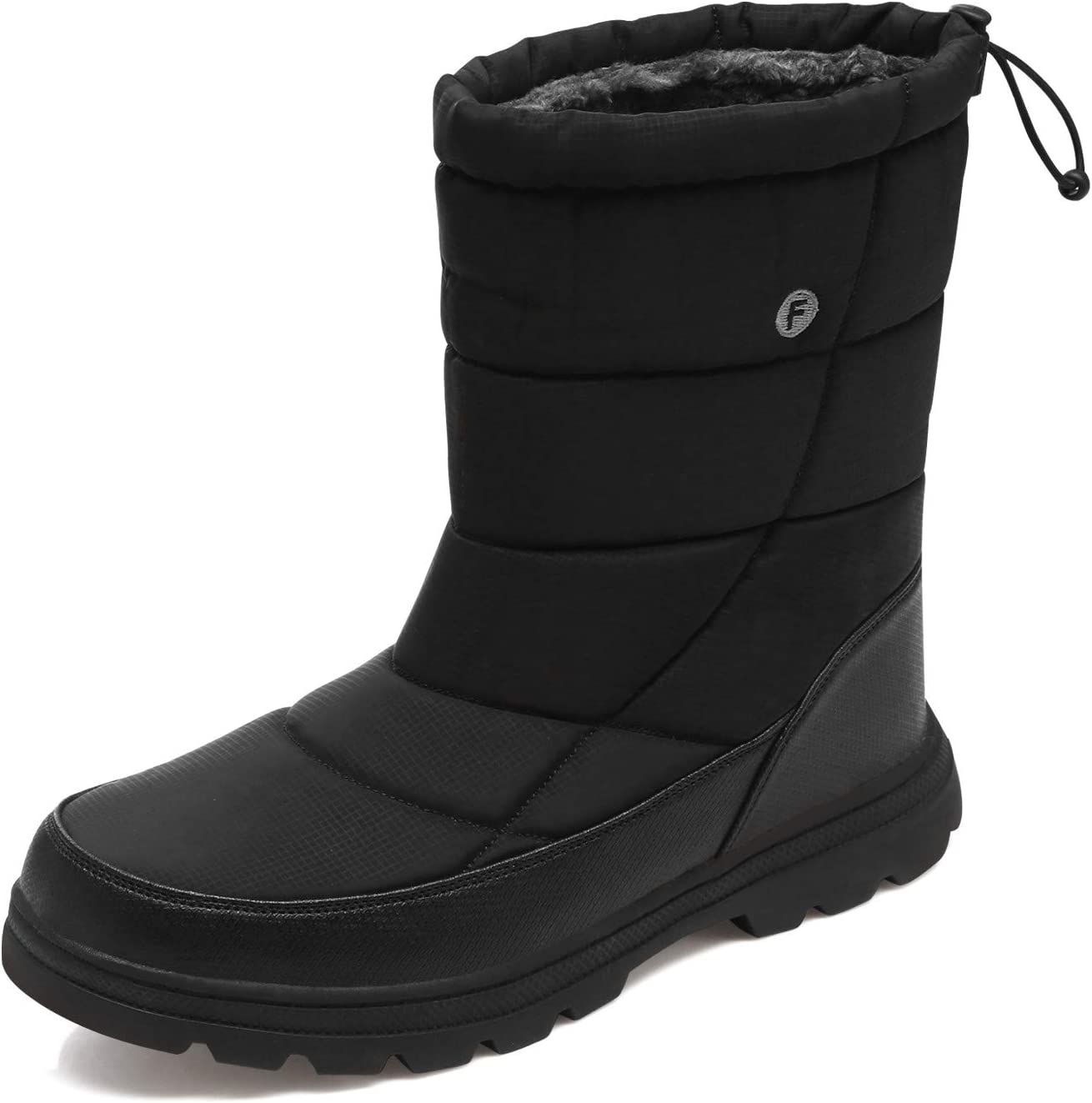 ODOUK Womens Snow Boots Waterproof Outdoor Mid Calf Warm Winter Fur Lined Shoes