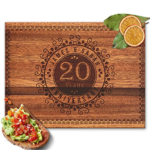 Froolu Fancy Designs custom wood cutting boards for Cool Gift for Friends 20th Anniversary Gifts