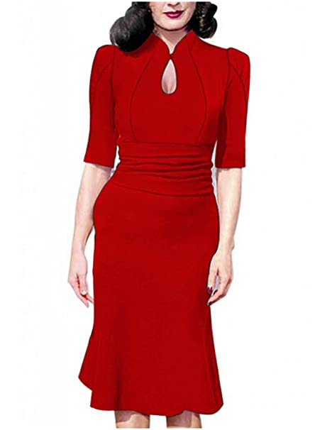 Sparkling YXB - Vestido - envolvente - Manga corta - para mujer Verde rosso Medium