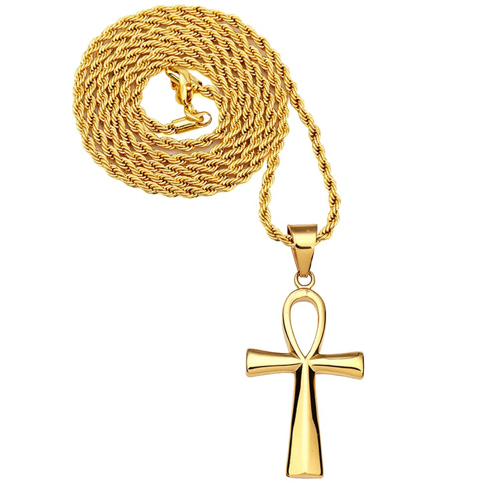 Men's 316L Stainless Steel Religions Cross Necklace Ankh