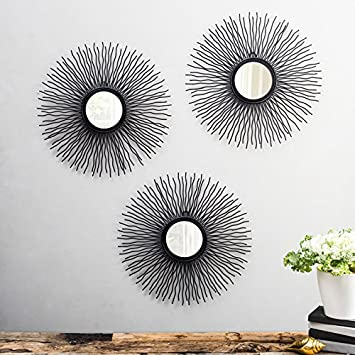Buy Flourish Concepts The Sun Decorative Mirror Set Of 3 Mirrors Style Wall Mirror Glass For Bathroom Bedroom Home Decor Living Room Online At Low Prices In India Amazon In