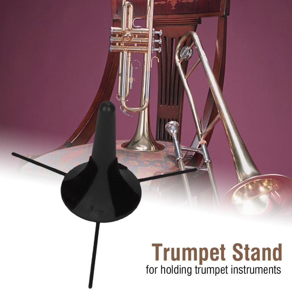 Plegable ABS Trompeta Tr/ípode Holder Desmontable Piernas Instrumento Musical Dilwe Soporte de la Trompeta