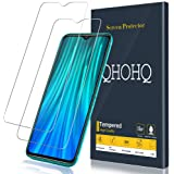 [2-Pack] QHOHQ Screen Protector for Xiaomi Redmi Note 8 Pro,[9H Hardness] HD Transparent Scratch-Resistant [Bubble Free] Tempered Glass