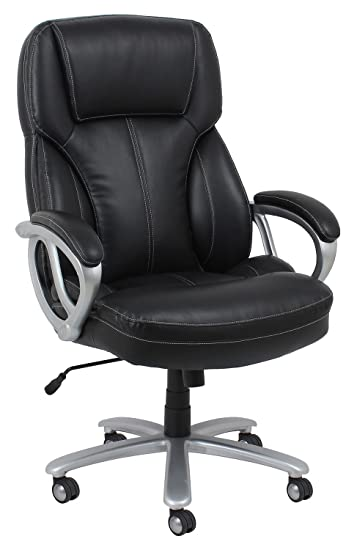 Amazon Com Essentials Big And Tall Leather Executive Chair High