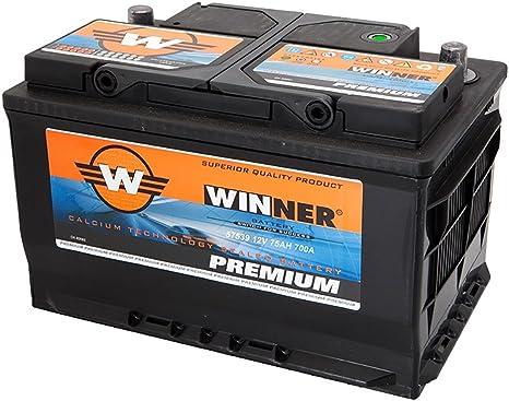 : Batterie pour voiture 75 Ah Winner Premium