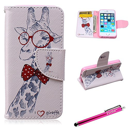 iPhone 6 Plus Case, Firefish iPhone 6 Plus Wallet Case [Bumper] [Kickstand] PU Leather with TPU Double Protection Flap Cover for Apple iPhone 6 Plus/6S Plus - - Sunglasses Zip Case With Pu