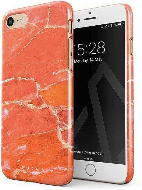 Cover Arancione Pesca per iPhone 7 e iPhone 8 di Silicone