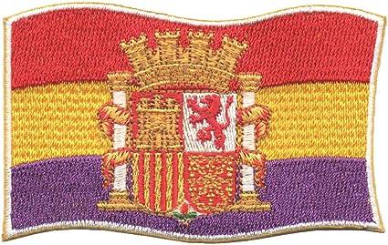 LGP - PARCHE bordado en tela BANDERA REPUBLICANA CON ESCUDO ...