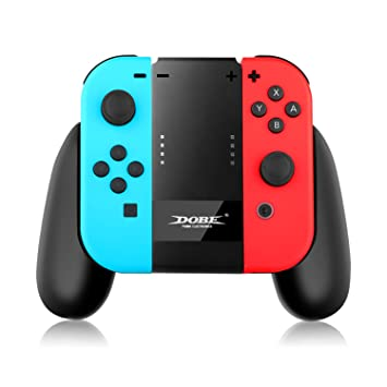IVSO Joy-con Cargador Charging Grip de la Comodidad Manija Titular Cargador de Energía + 2 m Cable USB para Nintendo Switch (Negro)