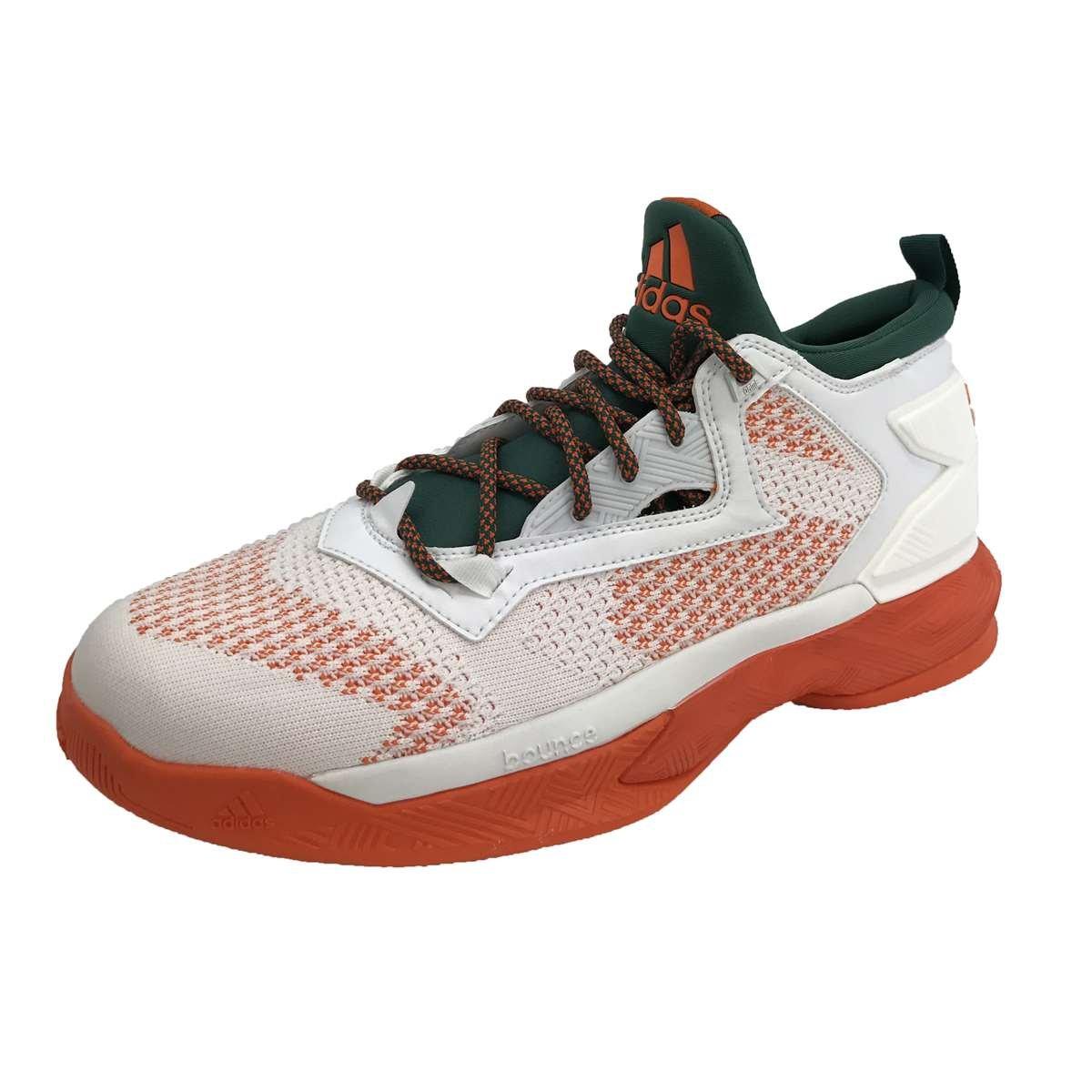 adidas Men's D Lillard 2 Basketball Shoes B073ZL6R1F 13 D(M) US Footwear White/Core Green/Orange