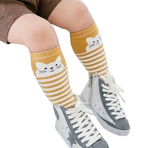 2# angel3292 Children Cute Cartoon Animal Design Cotton Long Socks Knee High Stocking