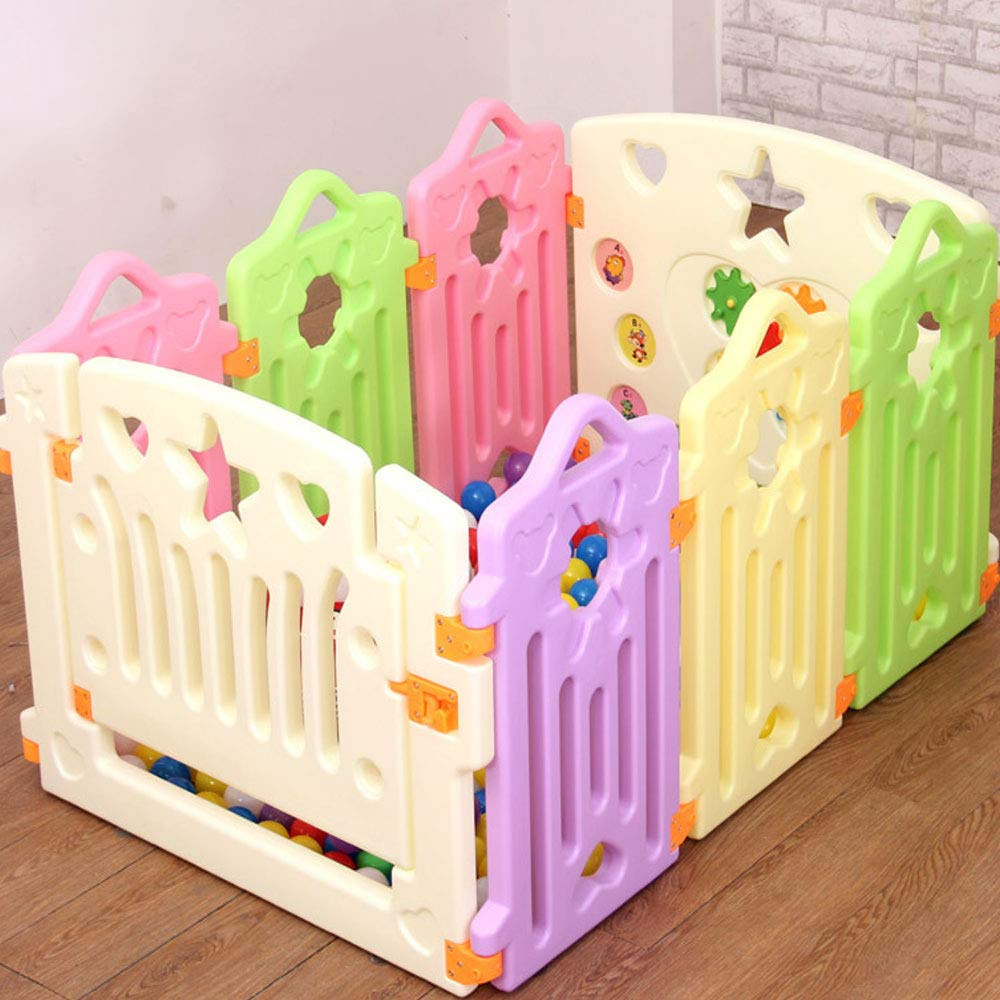 6 pieces WHSS Fence Baby Crawling Baby Toddler Safety Fence Indoor Toy Door Bar (UnitCount   8 pieces)