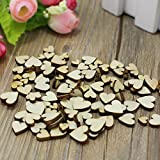 Ocr ™200PCS Wooden Heart Table Party Confetti Scatter Craft for Wedding DIY Decoration