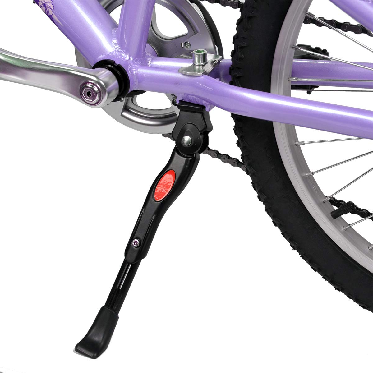 SEISSO Bike Bicycle Kickstands Adjustable Center Mount for 22 24 26 Inch Bicycles Aluminum Alloy Kickstands for Mountain Bike Road Bike 22-26 Inch Bicycles Adult