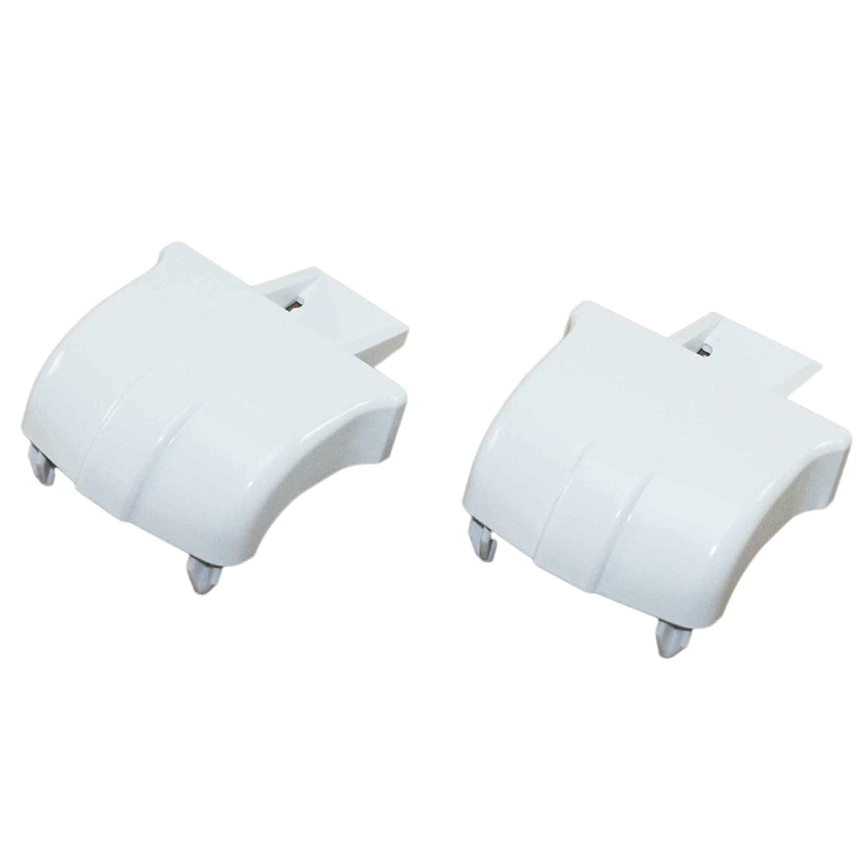 Supplying Demand WR2X8345 Refrigerator Door Bar End Cap 2 Pack WR02X8345