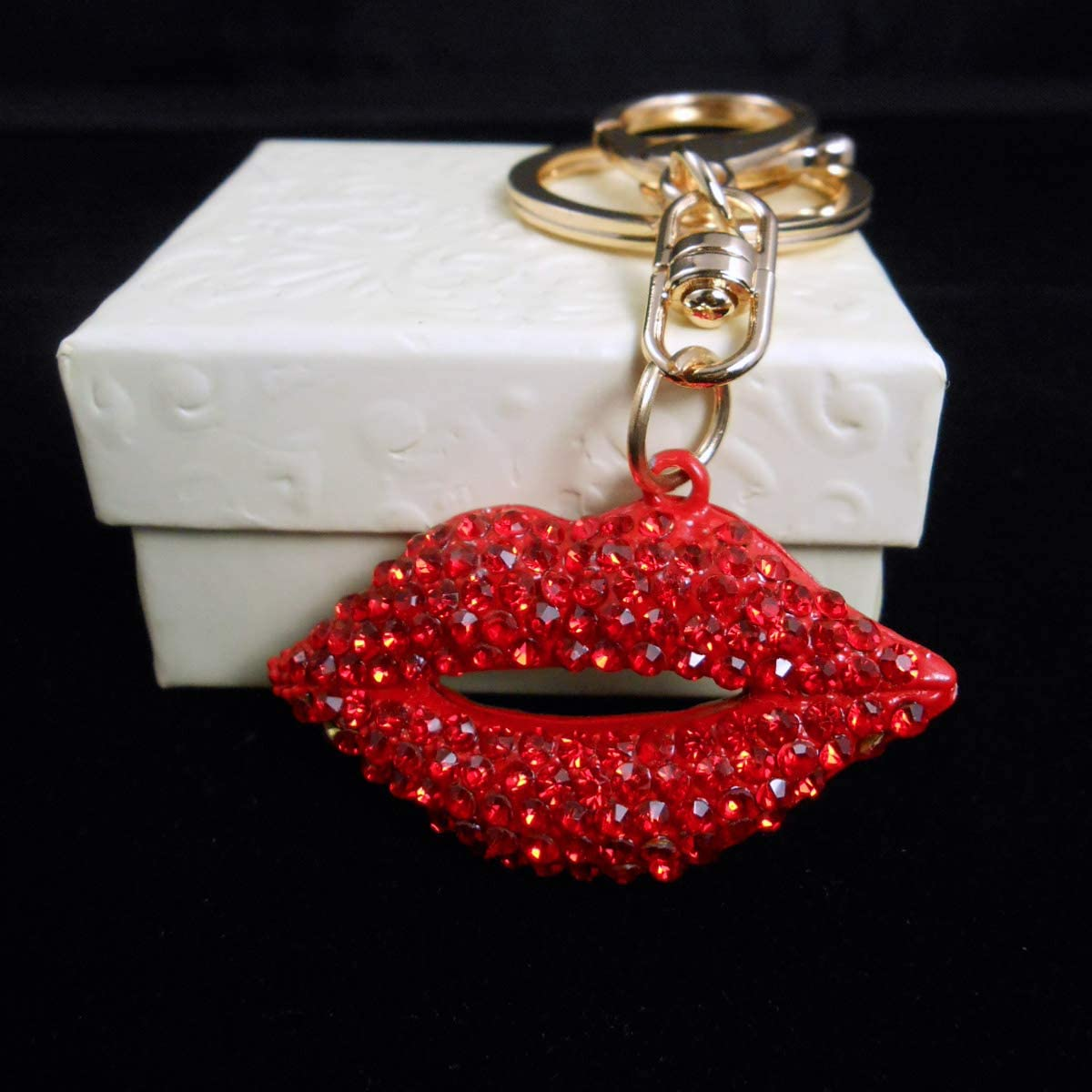 Glitter Keychain Resin Keychain Glitter Lips Keychain