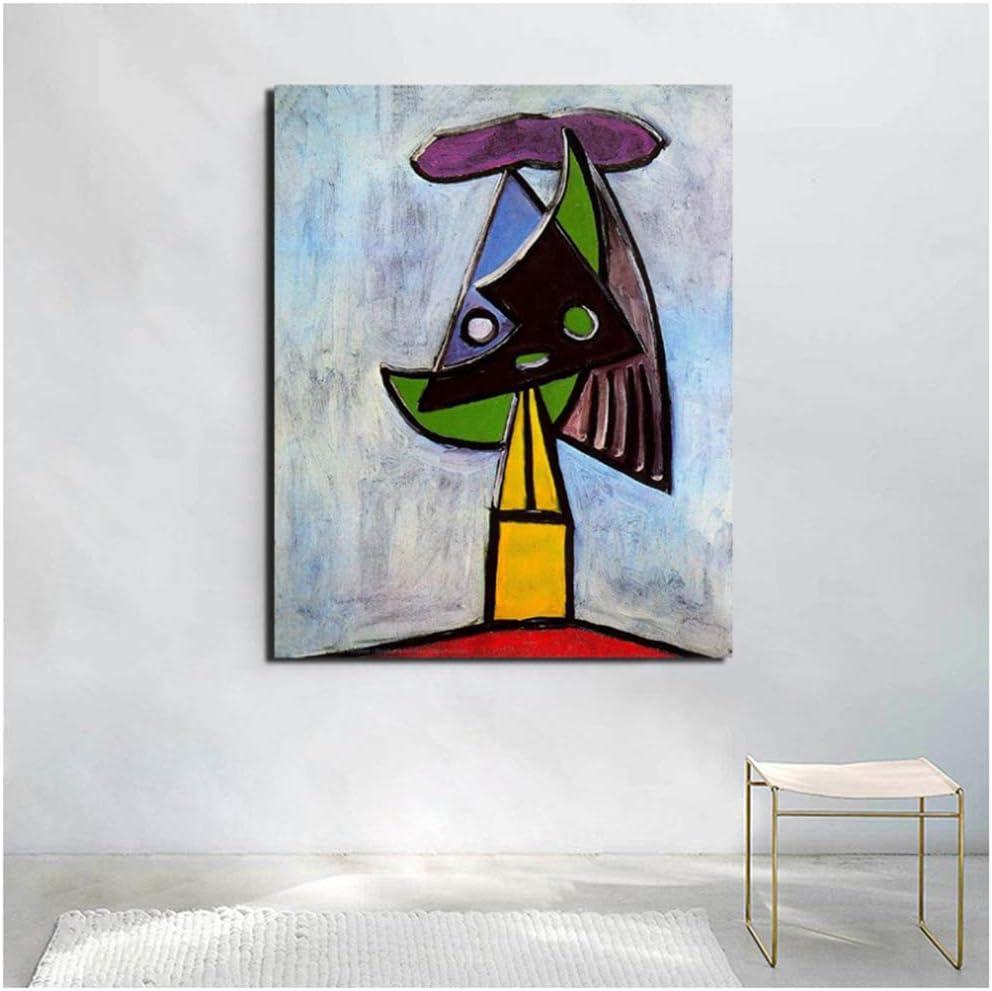 Cabeza de mujer Pablo Picasso lienzo pintura impresiones sala de estar decoración del hogar moderno arte de la pared pintura carteles cuadros -50x60 cm sin marco